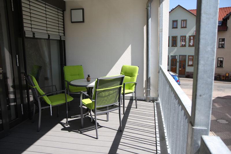 Jede WG verfügt über großzügige und sonnige Balkone