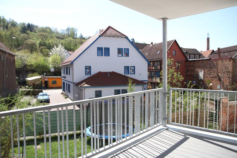 Blick vom Balkon einer Senioren WG
